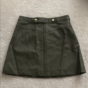 Abercrombie & Fitch Skirts - abercrombie faux olive leather skirt 0